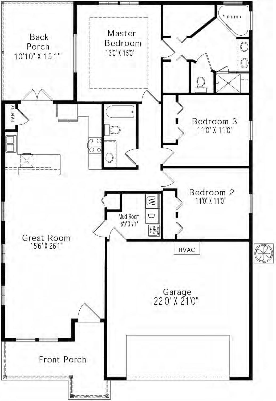 floor plan diagram jetted tub