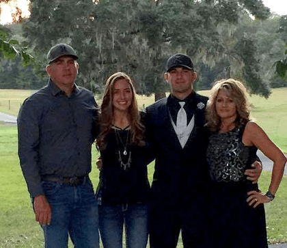 """Custom home builders E.D. """"Tripp"""" and Kristie Norfleet, pictured with their two wonderful children, Zeke and Christianna"""