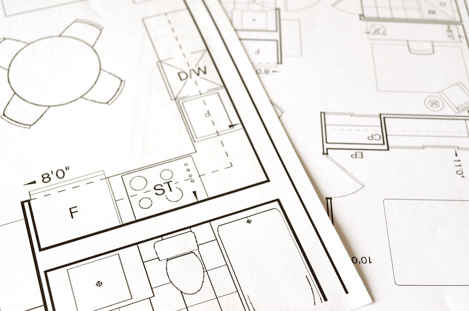 Image shows a custom home floor plan design.