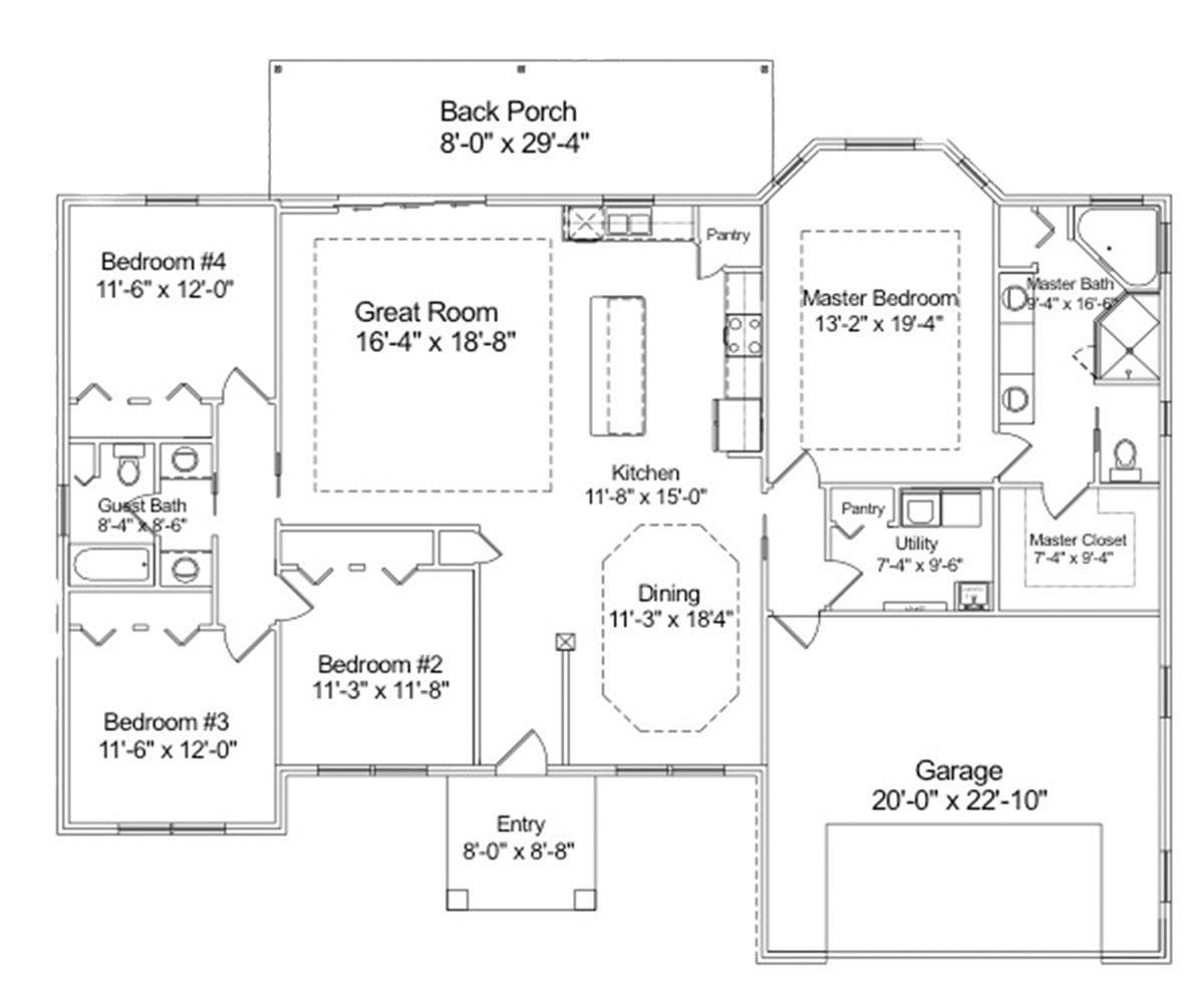 The mangrove custom home plan.