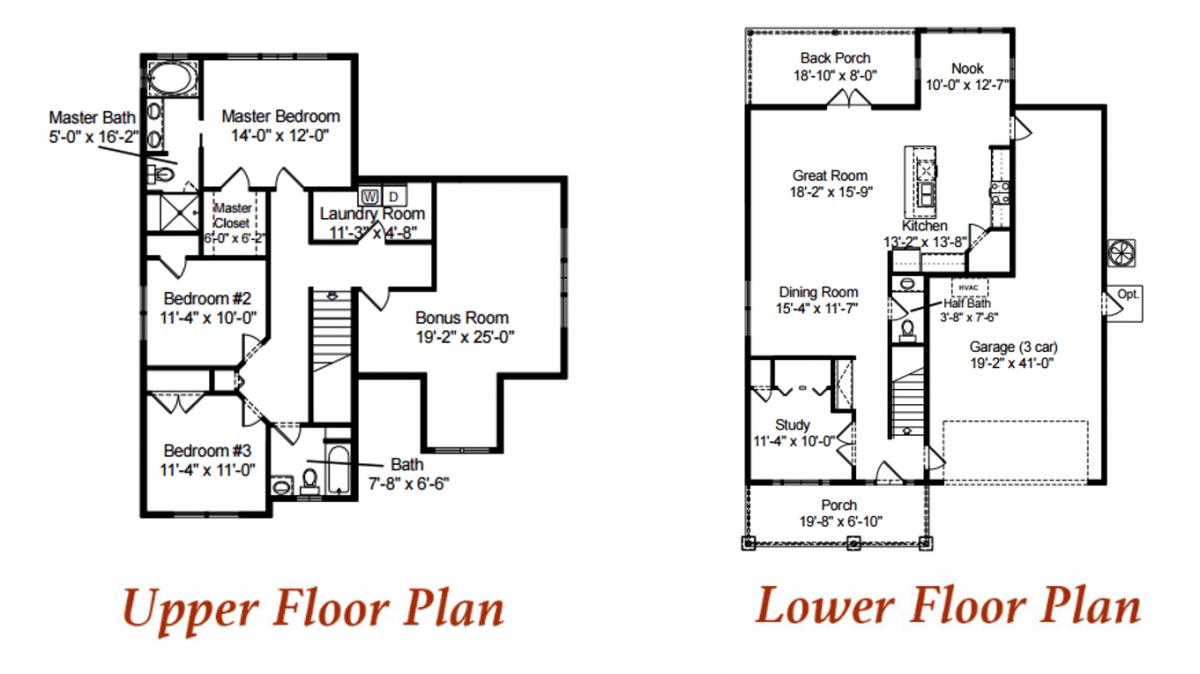 The Cedar custom home plan.