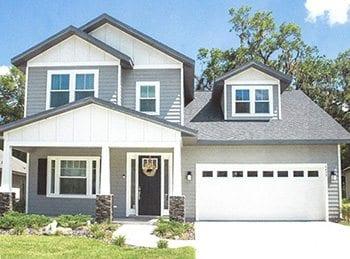 The cedar custom home, built by norfleet.